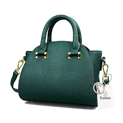Yoome Borse Piccole Per Trucco Vintage Borse Per Donne Top Crossbody Borsa Handle Satchel Borse Elegante - Rosa verde