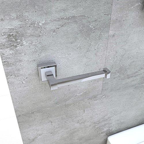Acroos-Toilettenpapierhalter-Kit für 1 Tissuepapierrolle - langlebiger und rostfreier Edelstahl, elegant polierte Oberfläche, robustes, kompaktes und festes Design, leicht montierbar