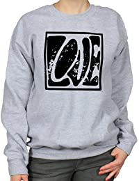 Love Square Sixties Psychedelic Womens Sweatshirt