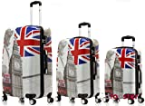 P-Collection Koffer Trolley Handgepäck -Set Motiv (Big Ben, 3er Set)