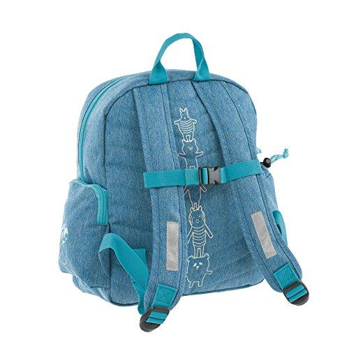 Lässig Medium Backpack About Friends mélange blue Sac à dos enfants, 30 cm, Bleu (Blue)