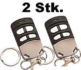 2 Funkhandsender 433.92 und 868.35 robust, langlebig, elegant geeignet für Garagentore. Dieser Garagentoröffner ersetzt bis zu 4 Funk Fernbedienungen und ist geeignet für Türen, Sektionaltor Garagen, Videoüberwachung, Rollotore, Alarmanlagen, Funksteckdosen, Funk-Schaltern, Bewegungsmelder, usw. dieser Universal Handsender deckt einen breiten Frequenzbereich ab und kann auch diverse Rolling Codes verarbeiten.