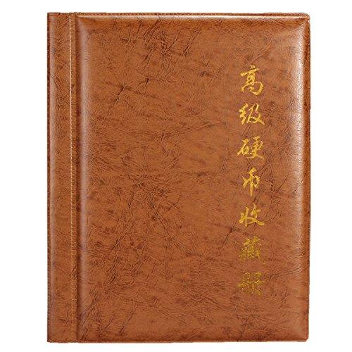 250 monete tasche Raccolta Holder mondo Coin Collection bagagli denaro Album Libro -Brown