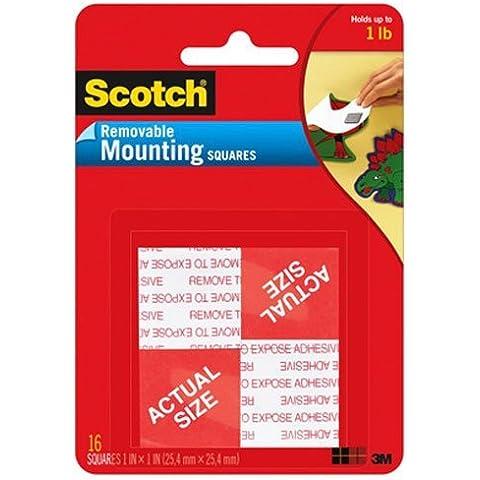 Scotch removibile schiuma montaggio piazze 16/Pkg-1