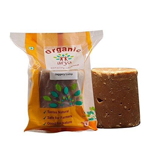 Arya Farm Organic Jaggery Lump, 1kg