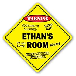 ETHANS ROOM SIGN kids bedroom decor door childrens name boy girl gift