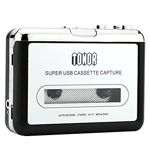 Tonor Portable Cassette Player Tape Convertor to MP3 via USB Compatible with Laptops and Personal Computers With Earphones