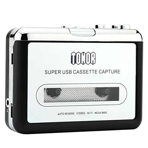 Tonor Convertidor USB Cinta Audio Cassette a MP3 CD Reproductor PC Conversor Casete