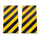 Pre&Mium 2er Set Türkantenschutz Auto Wandschutz Garage,Türschutz Carport Dicke selbstklebende Schutzpolster für besten Kantenschutz mit Reflexstreifen, 500 x 250 x 15mm