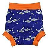 Splash About, costume/pannolino per neonato, Happy Nappy, riutilizzabile, squalo/arancione, 0-4 mesi