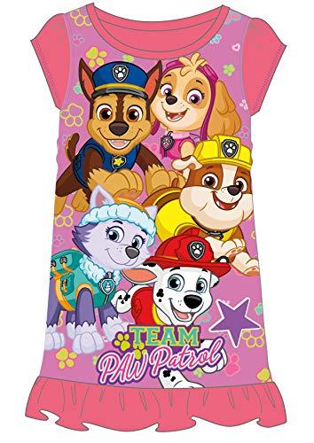 Disney Princess & Tv Character Mädchen Nachthemd Mit König Der Löwen, Aladdin, Cinderella, Paw Patrol, Little Mermaid | Kindernachtwäsche Mit Prinzessinnen (4/5 Jahre, Paw Patrol)