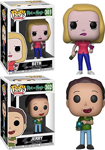 Funko POP! Rick & Morty: Beth + Jerry – Stylized Vinyl Figure Set NE