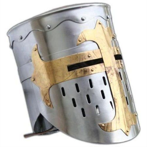 sader Templer Mittelalter Ritter Rüstung Helm-Reenactment Fancy Kleid Kostüm ()
