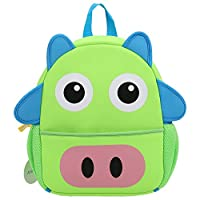 Arshiner Little Kids Backpack Bag Pre School Cute Cartoon Animal Pig Shape Green
