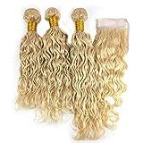 Best Hair Weave Blonde 3 Bundles - Mila 3 Bundles Blonde Brazilian Hair Weave 613# Review