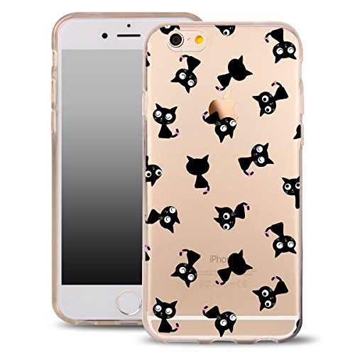 OOH!COLOR Design Case für IPHONE 7 Hülle Silikon Tiger ACA014 Animal Tiere Lion Löwe Tasche Schutz Case Elastisch Cover Print stylish weiche Etui mit Motiv Dünn Flexibel MPA140 Katze