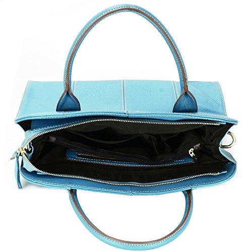 aretha donne designer Tote borse moda di qualità in vera pelle bovina, lavoro Tote Grab a tracolla, borse a tracolla, borse per casual ogni giorno ufficio Business shopping 141330CBLU