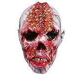 SODIAL Máscara Zombi De Terror Horrorosa Disfraces De Halloween Traje De Cosplay Accesorio Máscara Completa De Látex