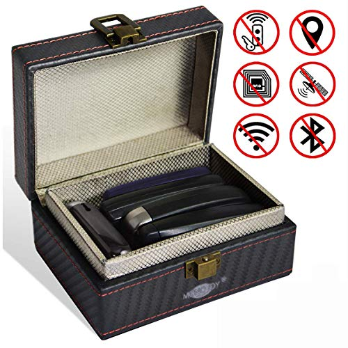 elbox Schlüsselgarage Schutzhülle Keyless Go Schutz Autoschlüssel für Auto und Motorrad Box Diebstahlschutz Frequenzschutz gegen Hacker RFID Blocker Schutzhülle Car Key Safe Box ()