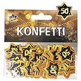 """Udo Schmidt GmbH & Co Zahlen Konfetti 50"""" Schwarz Gold Geburtstag Dekoration Party Tischdeko"""