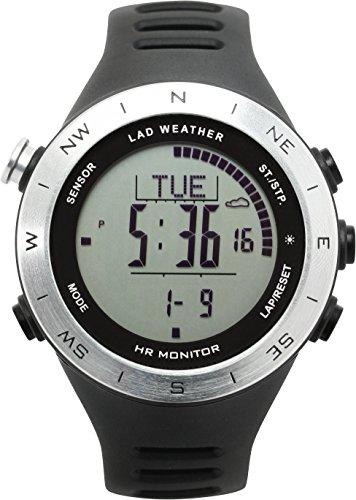 [Lad Wetter  Deutsche Sensor Herzfrequenz Monitor Stoppuhr ABC Multifunktions-Uhr Training/Sport Aktivitäten (Training Sport Uhr)