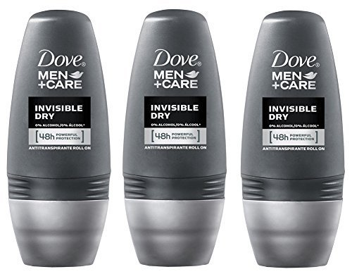 Dove Men Invisible Dry 48hr Anti-perspirant Deodorant Roll-on 50ml (1.7 Fluid Ounce). (Pack of 3) by Dove -