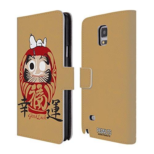 Head Case Designs Offizielle Peanuts Hals Und Beinbruch Orientalischer Snoopy Leder Brieftaschen Huelle kompatibel mit Samsung Galaxy Note 4 (Galaxy Snoopy 4 Note Hülle Samsung)
