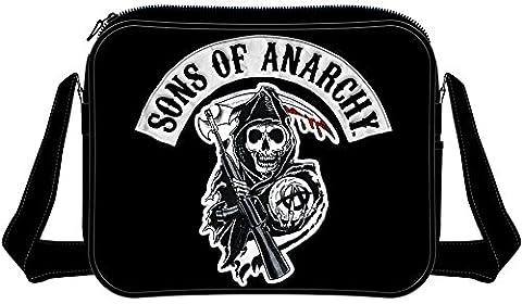 Sons of anarchy ensemble de patchs sAMCRO logo sac à bandoulière messenger bag