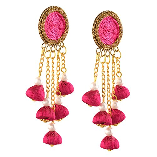 Zephyrr Fashion Handmade Lightweight Pierced Beaded Dangler Earrings. For Girls and Women