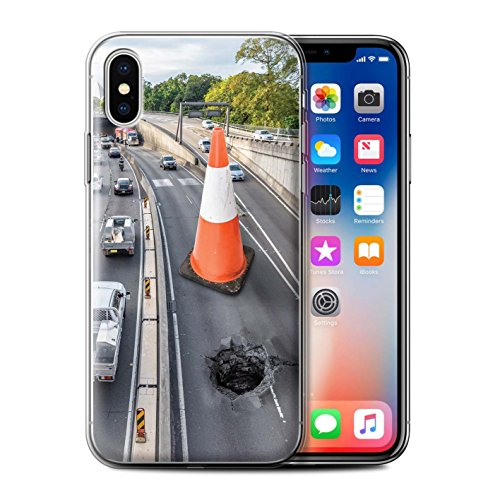 Stuff4 Gel TPU Hülle / Case für Apple iPhone X/10 / Pack 14pcs / Unten Unter Kollektion Straßenarbeiten