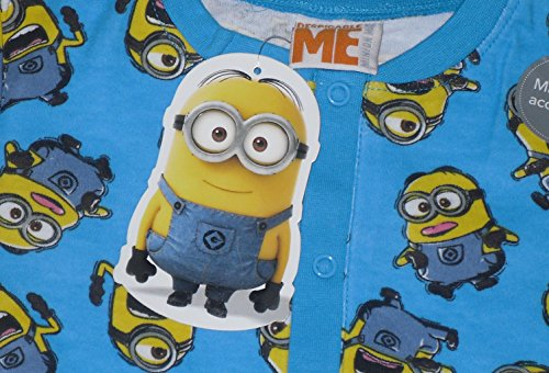 Image of Boys Onesie Pyjamas Despicable Me Minions 2-14 Years Eye Mask Short Sleeved (6-7 years)