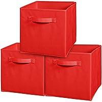 UZOU - Scatola in tessuto 28 x 27 x 27 cm Red