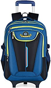 Kids Trolley Backpack, COOFIT School Backpacks with Wheels School Bag Rolling Backpack kids Wheeled Backpacks Childrens Backpack by COOFIT