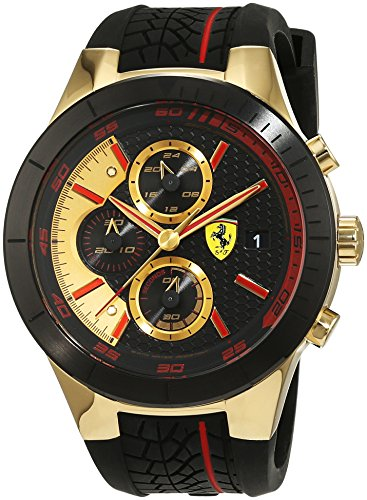 Scuderia-Ferrari-Orologi-Red-REV-Evo-Chrono-Mens-Quartz-Watch-with-Analogue-Quartz-Silicone-0830298