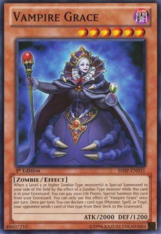 Yu-Gi-Oh! - Vampire Grace Grace Grace (SHSP-EN031) - Shadow Specters - Unlimited Edition - Common by Yu-Gi-Oh! | Des Matériaux Supérieurs  97bc64