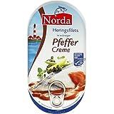 Norda Heringsfilets, zarte Fisch-Filets in Pfeffer-Creme, MSC zertifiziert, 13er Pack (13 x 200 g)
