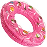 KriTech Safety Inflatable Swim Ring - Blow Up Crystal Lap Double Thick Floating Raft Tube For Swimming Pool (90 Cm)