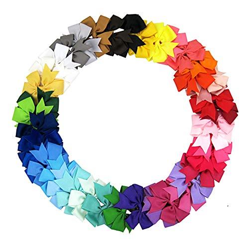 PoeHXtyy 5 Stücke Zufällige Farben Ripsband Nadelrad Boutique Hair Bows Clips Baby Mädchen Kleinkinder Kinder Kinder Haarspangen (Hair Boutique Bows 5)