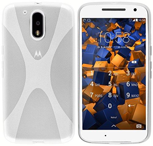 mumbi X-TPU Schutzhülle für Motorola Moto G4 / G4 Plus Hülle transparent weiss