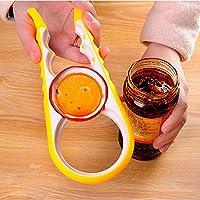 RoadRomao 4 en 1 Multifunción Easy Twist Jar Opener Antideslizante Hogar Abrelatas