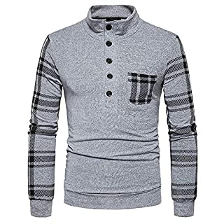 Men Long Sleeve Tops HEHEM Men's Autumn Winter Sweater Pullover Loose Jumper Knitwear Outwear Blouse Tops Blouse Long Sleeve Shirts T-Shirt Polo Shirts Polo Sweatshirt