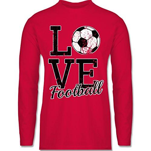 Fußball - Love Football - Longsleeve / langärmeliges T-Shirt für Herren Rot
