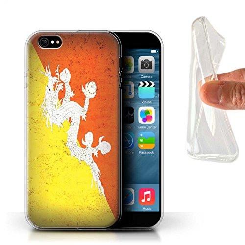 Stuff4 Gel TPU Hülle / Case für Apple iPhone 7 Plus / Philippinen Muster / Asien Flagge Kollektion Bhutan/Bhutanese