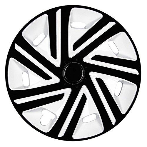 (Größe wählbar) 16 Zoll Radkappen / Radzierblenden CYRKON Weiss/Schwarz passend für fast alle Fahrzeugtypen - universal