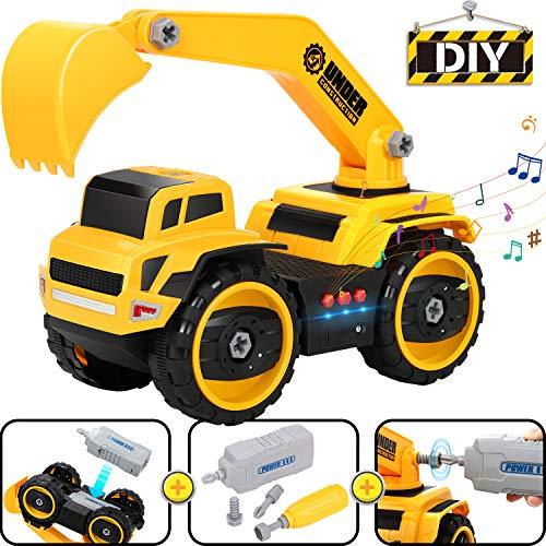 COOLJOY Véhicule de Construction, 25 Pièces DIY Camion...