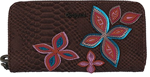 Desigual Portefeuille Fly Patch Zip Around Camel 18saypa0