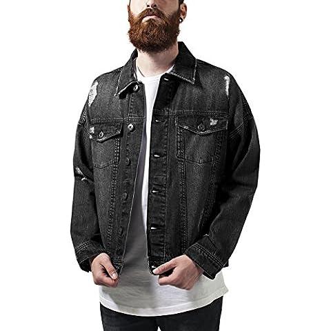 Urban Classics Ripped Denim Jacket, Chaqueta Para Hombre