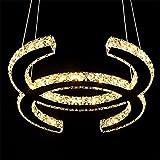 Modern Minimalistischer Mode Kreativer Hängeleuchte LED Luxus Gaststätte Doppel C Persönlichkeit Kunst Kristallleuchter Wohnzimmer Schlafzimmer Sterneffekt lampe Pendelleuchten L35×W25CM 230V