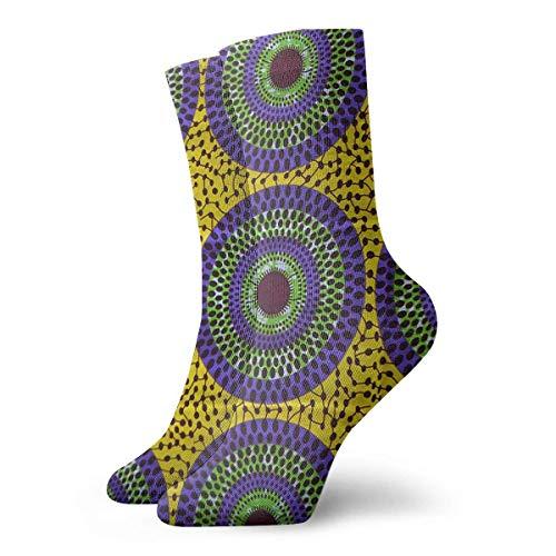 best pillow African Print- Ankara Pattern Casual Crazy Crew Socks Comfortable Novelty Socks 11.8 inch