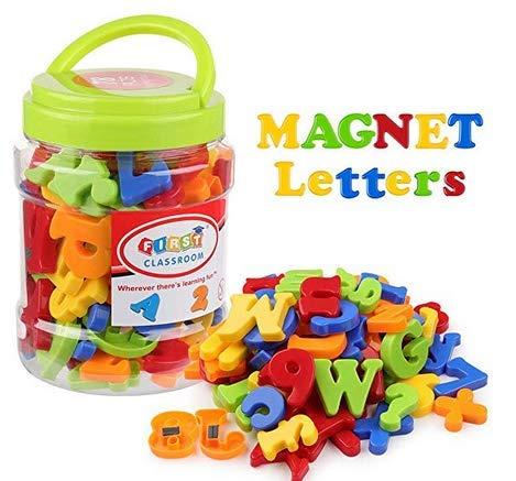 Magnetische Buchstaben und Zahlen,78 Stücke Alphabet Magnete Nummer Spielzeug Lernspielzeug Fridge Stickers Geschenk Set für Kinder